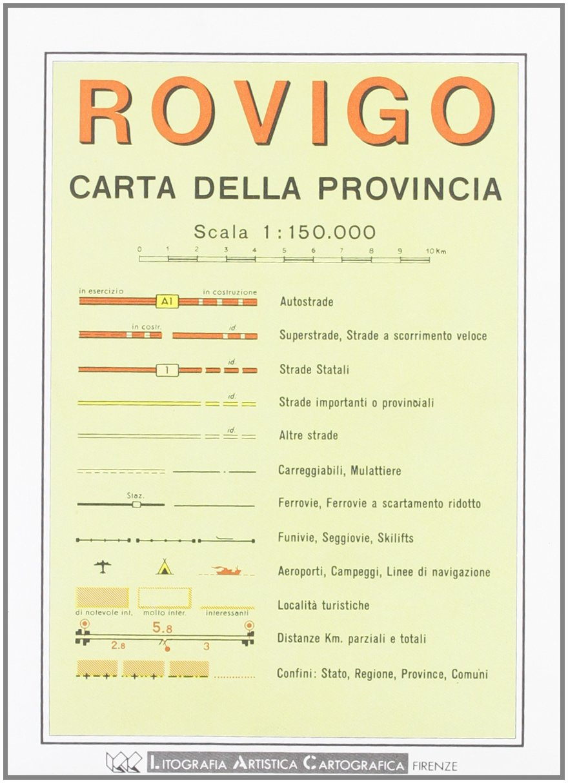 Rovigo Provincial Road Map (1:150, 000) (Italian Edition) pdf