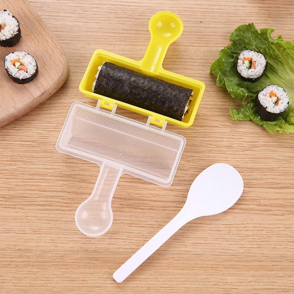 pranzo e snack con cucchiaio per riso Hebudy facile da usare per cene shaker per sushaker per riso giapponese a forma di sfera di riso pratico kit fai da te per shake