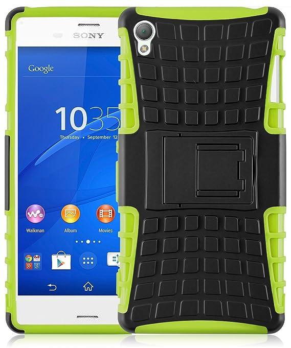 JAMMYLIZARD Outdoor Hülle für Sony Xperia Z3 | Schutzhülle [Alligator] Doppelschutz Handyhülle Hardcase aus Polycarbonat und