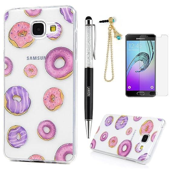 Lanveni TPU Silikon Schutzhülle Kompatibel für Samsung Galaxy A3 (2016) Hülle Durchsichtige Rückschale und TPU-Bumper Weiche