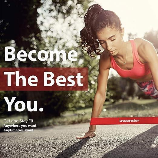 Fitnessb/änder Set Premium Latex B/änder mit Ebook f/ür /Übungen zu Hause Gym