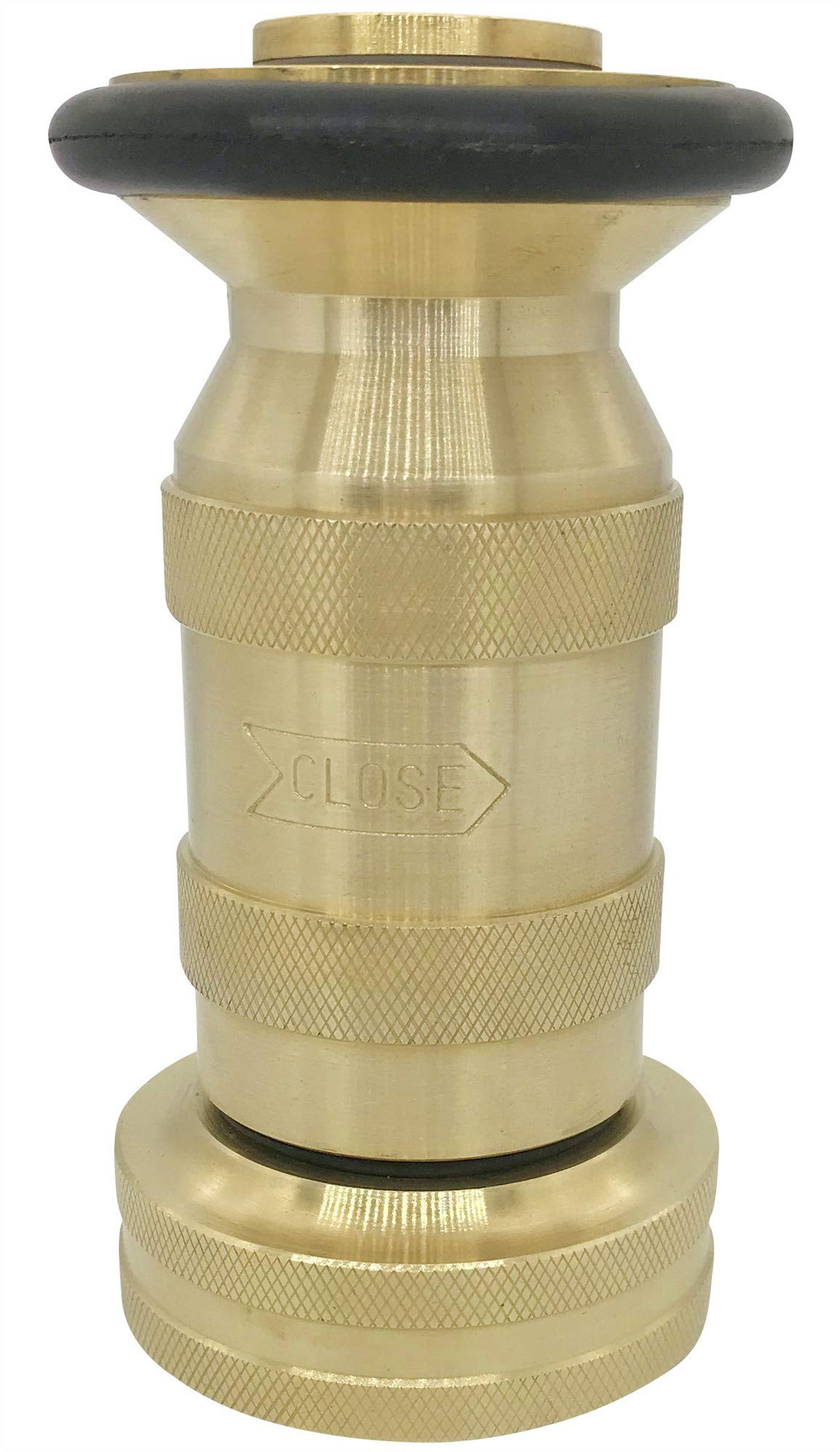 Fire Hose Nozzle 100 psi 1-1/2'' NST/NH 85 gpm Brass Fire Equipment Heavy Duty Industrial Jet Fog Spray Nozzle FHSN06B