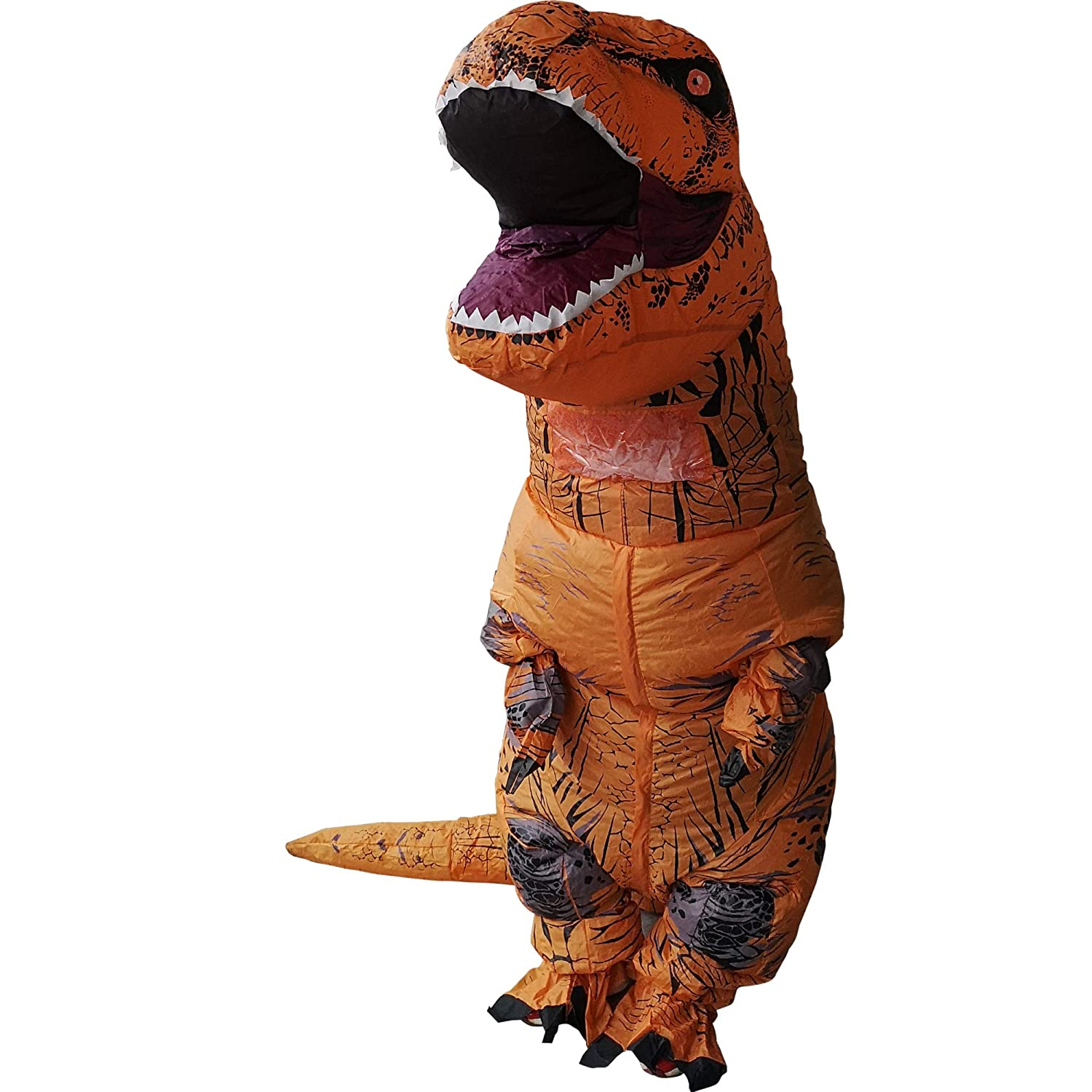 T-Rex Inflatable Dinosaur Mascot Party Costume Fancy Dress Cosplay Outfit Adult