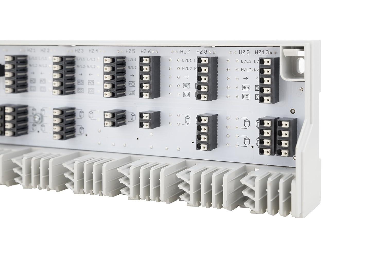 f/ür 6 Thermostate /& 15 Stellantriebe M/öhlenhoff Alpha-Basis direct 230V//24V hochwertige Regelklemmleiste Fu/ßbodenheizung