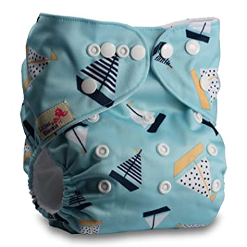 Littles /& Bloomz Reusable Pocket Cloth Nappy Pattern 11 with 1 Bamboo Charcoal Insert Set of 1 Fastener: Popper
