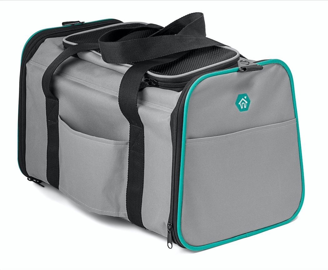 Pawdle Expandable and Foldable Pet Carrier Domestic Airline Approved (Heather Gray) by Pawdle (Image #4)