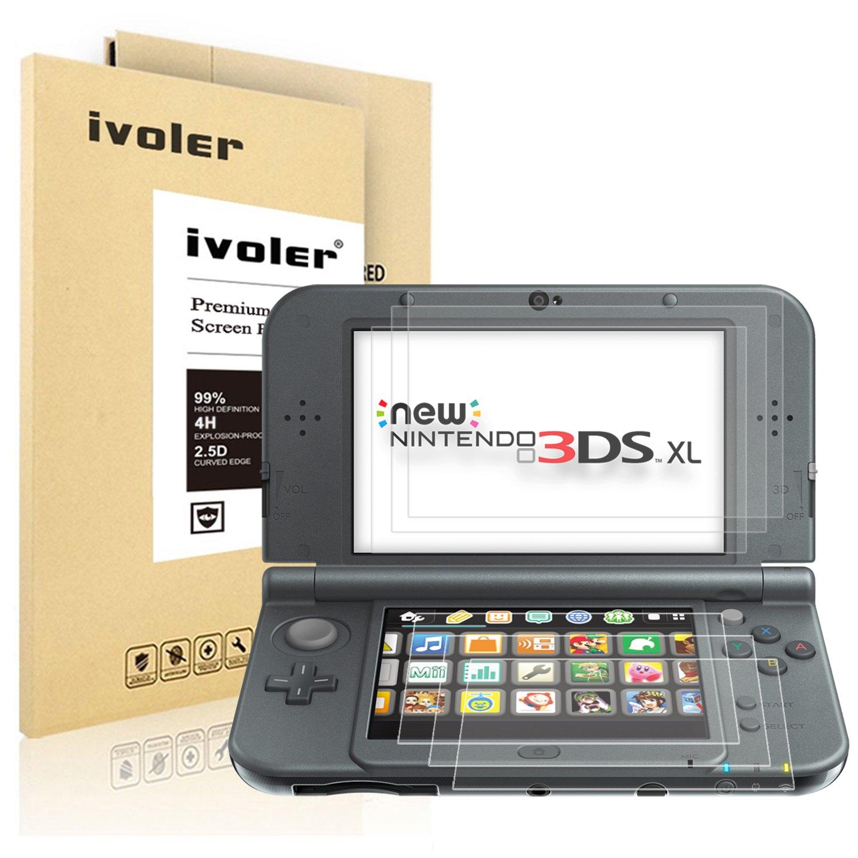 iVoler [6 Unidades] Protector de Pantalla para Nintendo New 3DS XL, [Cobertura Completa] [Anti-Arañazos] [Sin Burbujas] HD Transparente TPU Suave ...