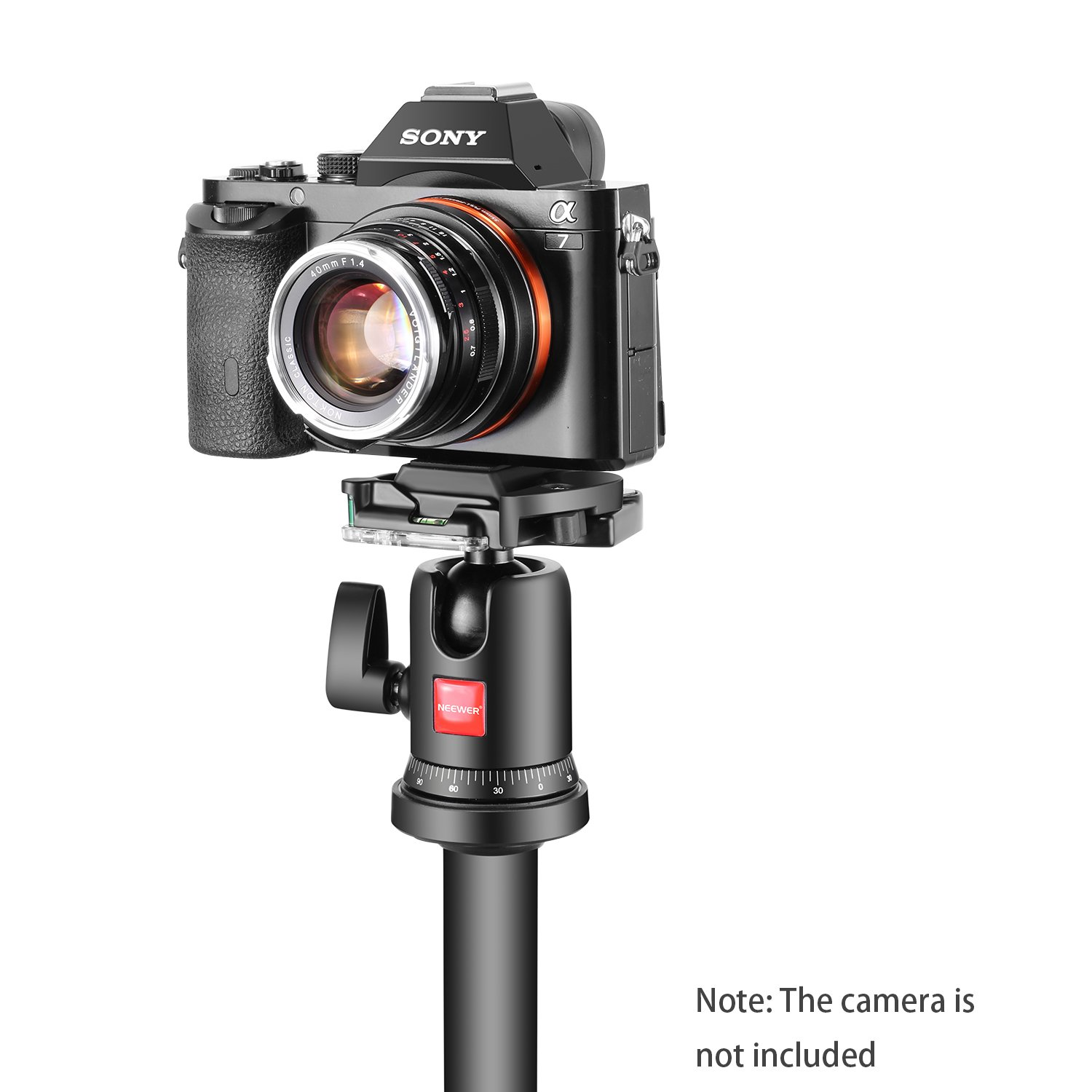 Neewer 360 Degree Ball Head Video Camera Tripod Panoramic with 1//4 Inch Quick Shoe Plate and Bubble Level for Tripod Monopod DSLR Camera Camcorder