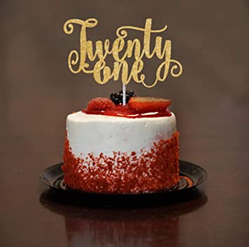 21st Birthday Cake Ideas.21st Birthday Cake Topper Twenty One Cake Topper Bday Cake