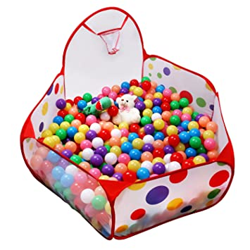 Captivating EocuSun 5 Ft Kids Ball Pit Tent Extra Large Ball Pits With Basketball Hoop  And