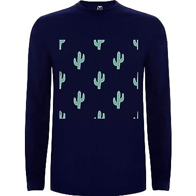Lilij Camiseta Hombre Manga Larga Cactus Cool Sweatshirt ...
