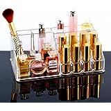 Bulfyss Premium Makeup Cosmetics Organizer Acrylic Display Lipstick Organiser - 16 Sections - Valentine Gift
