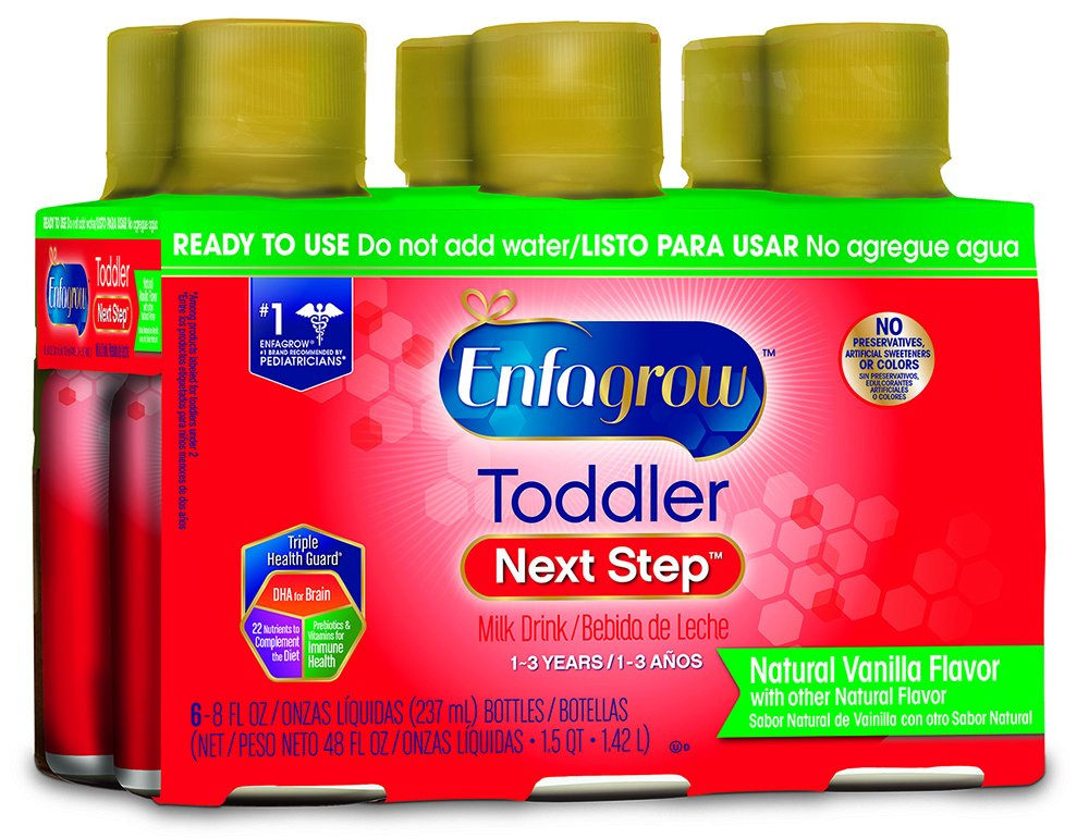 Amazon.com: Enfagrow Toddler Next Step Vanilla, Ready to Use, 8 Fl Oz, 6 Count: Health & Personal Care