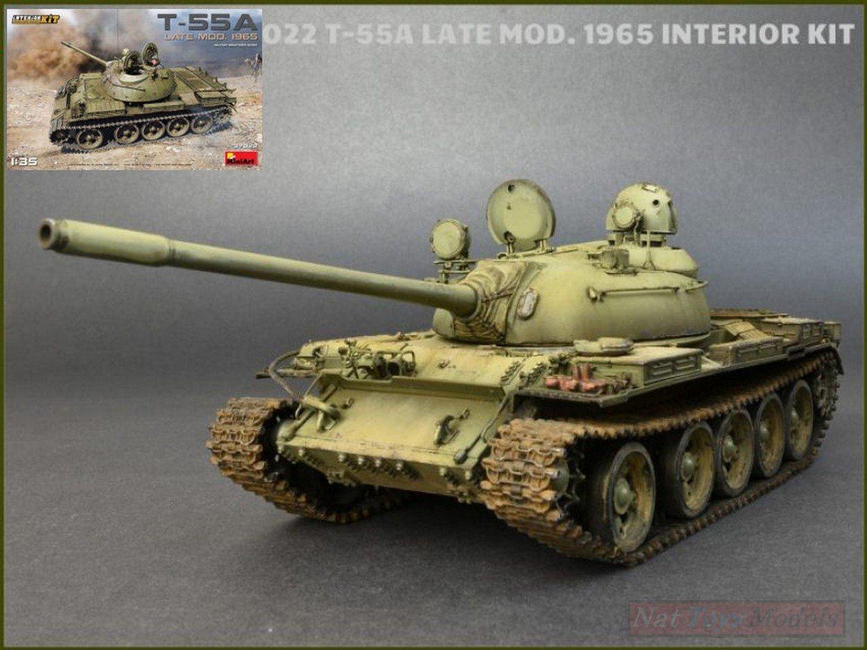 NEW MINIART MIN37022 T-55A Late Mod.1965 Kit 1:35 MODELLINO Model