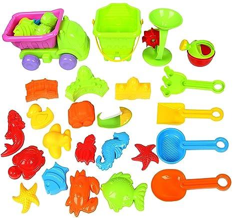 Yier Juego de plástico Moldes de castillo Juegos de arena de playa Juguetes de playa para niños ...