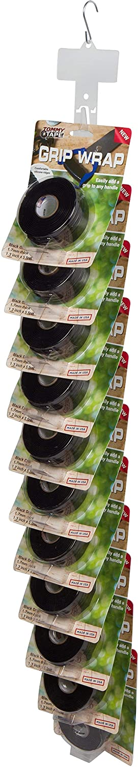 Tommy Tape Silicone Grip Wrap 12 Unit Clip Strip for Resellers