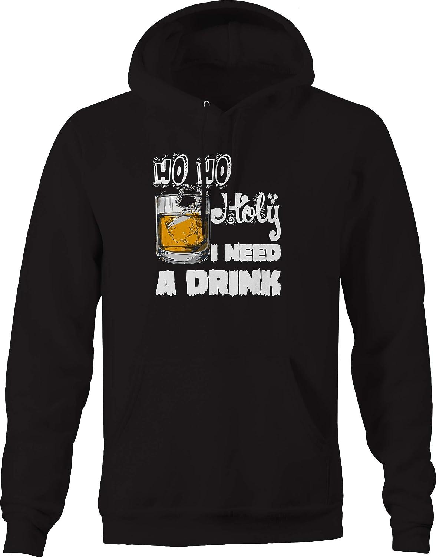 Ho Ho Holy I Need a Drink Funny Christmas Drunk Sweatshirt