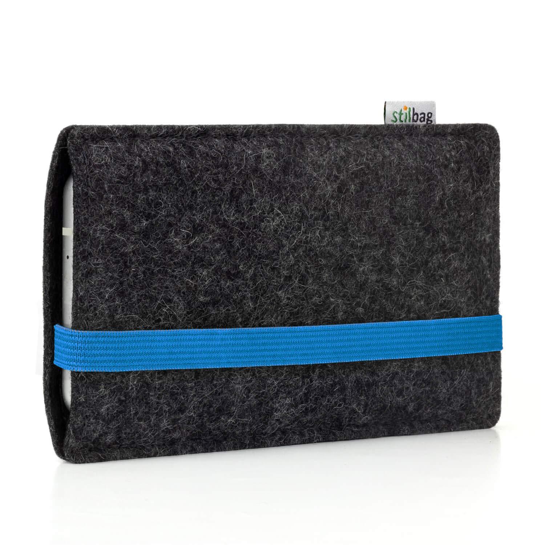 Cubierta Protectora para m/óvil Cajas para m/óvil Made in Germany Bolsa de Fieltro para Smartphone stilbag Funda Leon para Huawei P20 Lite Color: Azul//Antracita