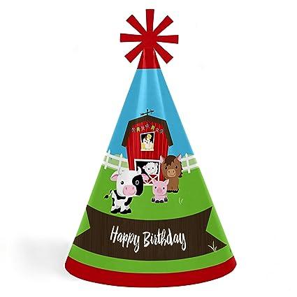 Amazon.com: Animales de Granja – Cono feliz cumpleaños ...