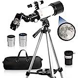 Telescopes for Adults, 70mm Aperture 400mm AZ Mount, Telescope for Kids Beginners, Fully Multi-Coated Optics, Astronomy Refra