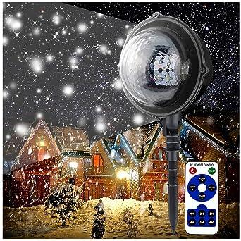 Proyector Navidad Exterior,Proyector Halloween con Control Remoto ...