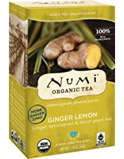 Numi Organic Tea Decaf Ginger Lemon Green Tea, 16 Count Tea Bags