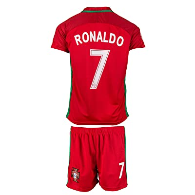 EGS Portugal #7 Ronaldo Home Kids Jersey & Shorts - 2016/17