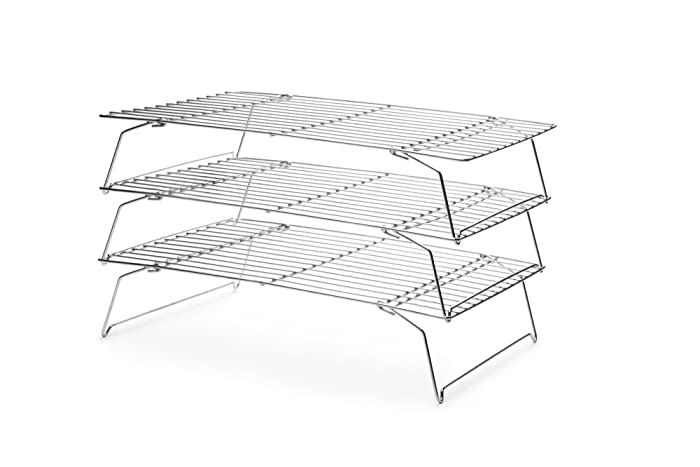 Fox Run 4698 Stackable Cooling Rack Set, Chrome, 3-Piece