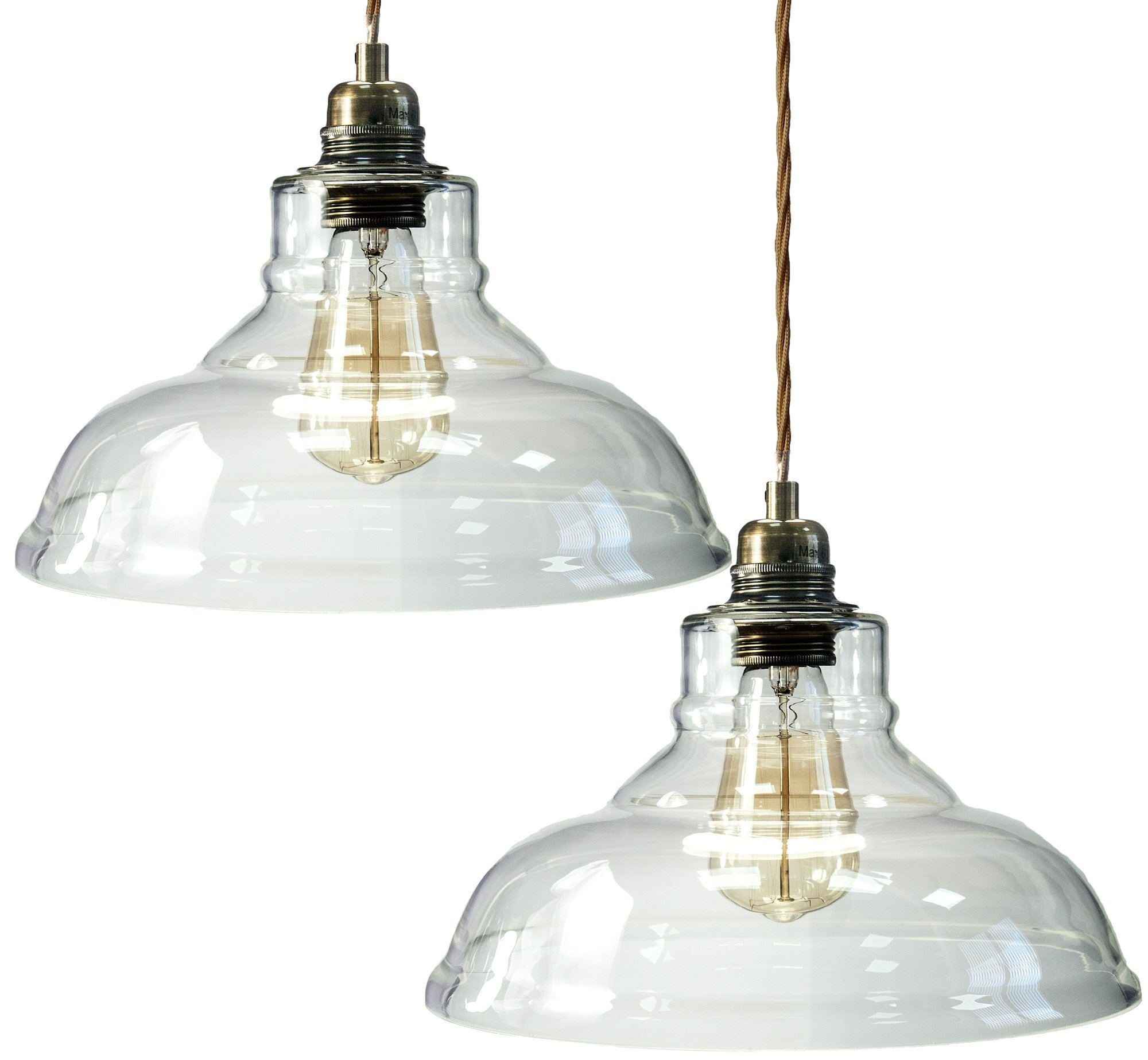 glass chandelier shades. Pack Of 2 Modern Vintage Glass Chandelier Shade Pendant Hanging Ceiling Light E27 - Clear Shades A
