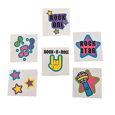 Rock Star Glitter Tattoos (72): Toys & Games