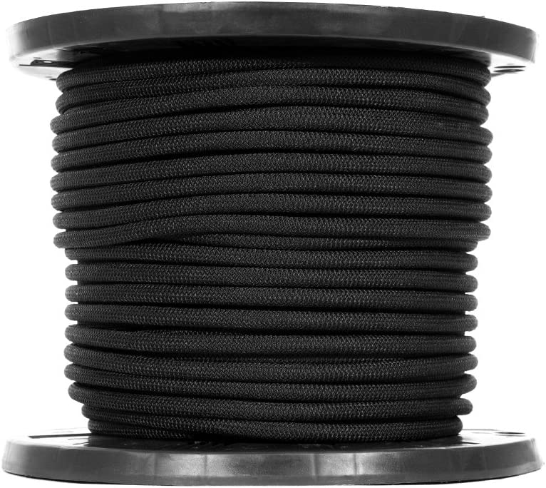 Strong Hold Crafting Black Diamond Weave Elastic Bungee Cord Tie-Downs - Camping Shock Cord Kayak Decks Features 100/% Stretch Shock Absorbent 1//8 Inch X 50 Feet Gravity Chairs