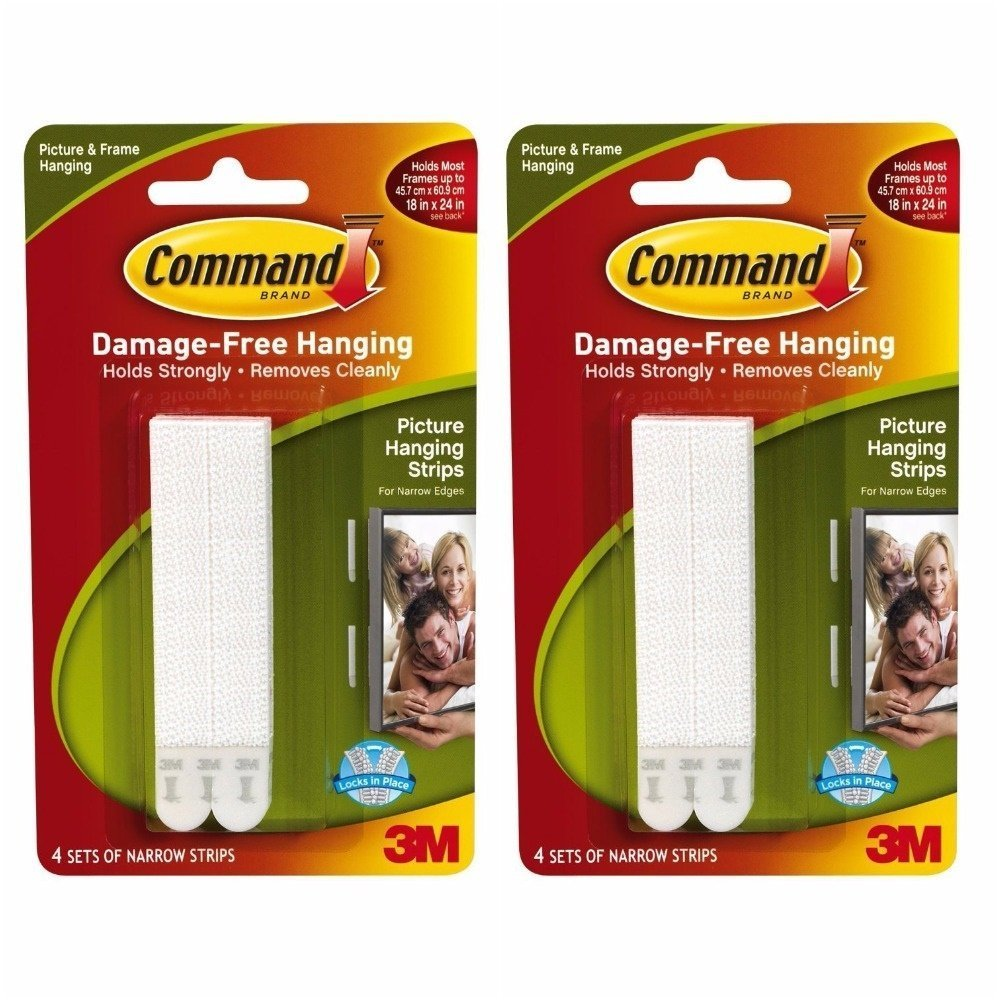 Command 17206 Large Picture Hanging Strips (4 Strips x Pack of 2)