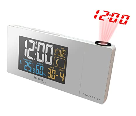 Technoline WT 537 Digital Table Clock Rectangular Color Blanco Reloj de repisa o Sobre Mesa -