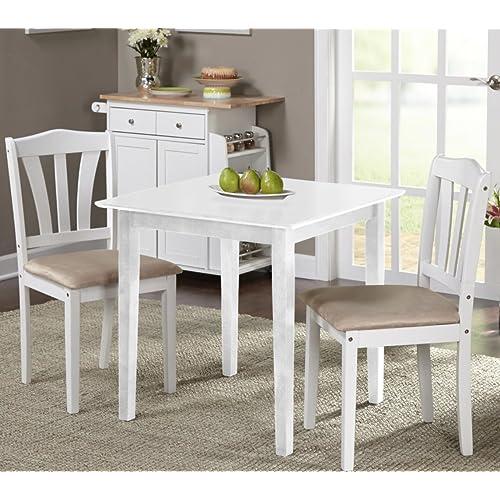 White Dining Sets: White Dinette Sets: Amazon.com