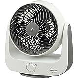 山善 18cm首振りサーキュレーター (静音モード搭載)(風量3段階) ホワイトグレー YAS-KN183(WH)