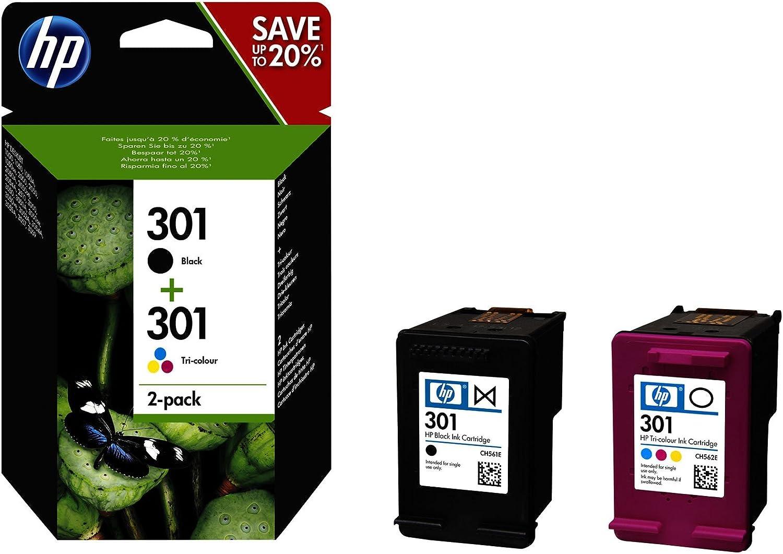2X Tintas HP 301: 1x CH561EE + 1x CH562EE HP 301 (N9J72AE): Hp: Amazon.es: Electrónica