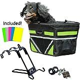 2018 Pet-Pilot Dog Bike Basket Carrier | 9 color options for your bicycle