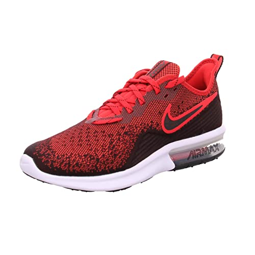 Tenis Nike Air MAX Sequent 4 Negro Rojo: .mx: Ropa