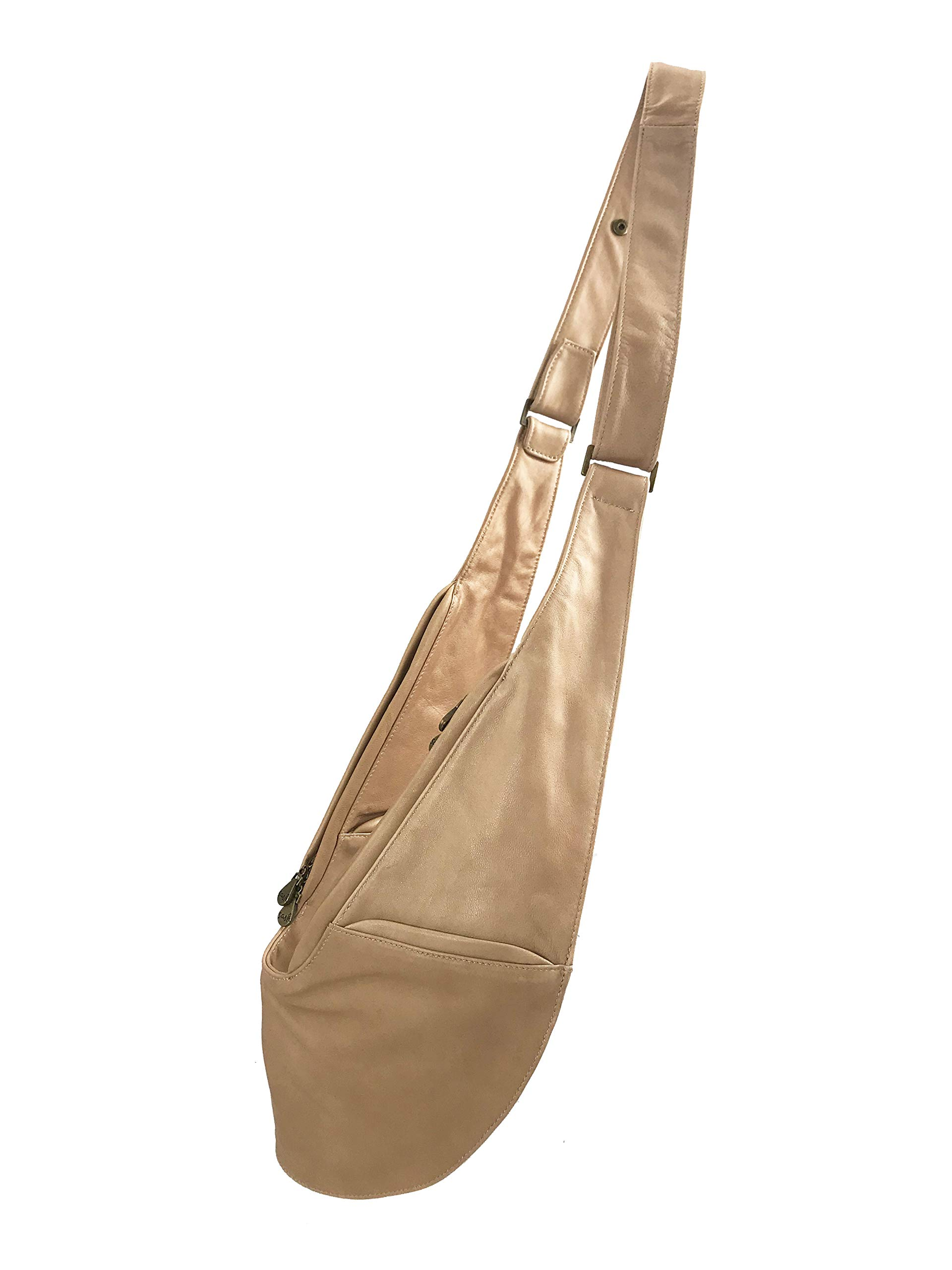 Womens Crossbody Bag by SASH - Over The Shoulder Cross Body Purse (Tan Genuine Leather)