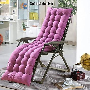 El cojín Mat Lounge de almohadilla cojín Patio jardín hamaca al aire libre cubierta (No incluye silla), Morado, 160*48*8CM