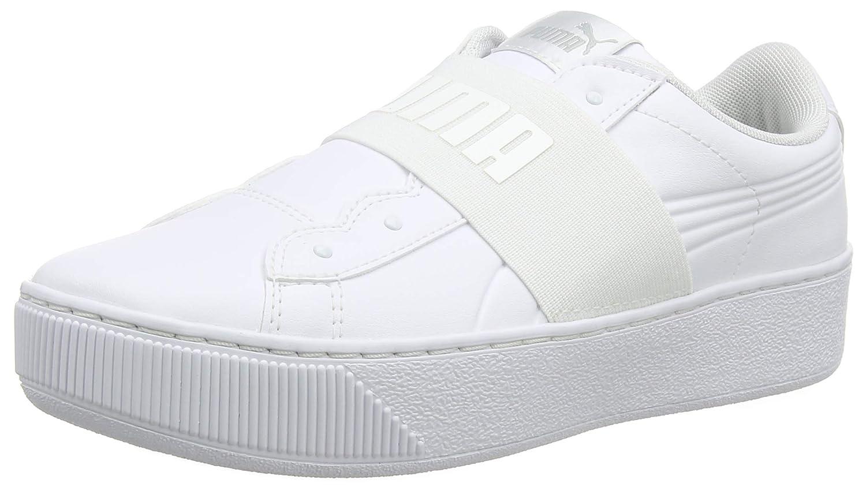 Puma Vikky Platform Elastic, Zapatillas para Mujer 40.5 EU|Blanco (Puma White-puma White 02)
