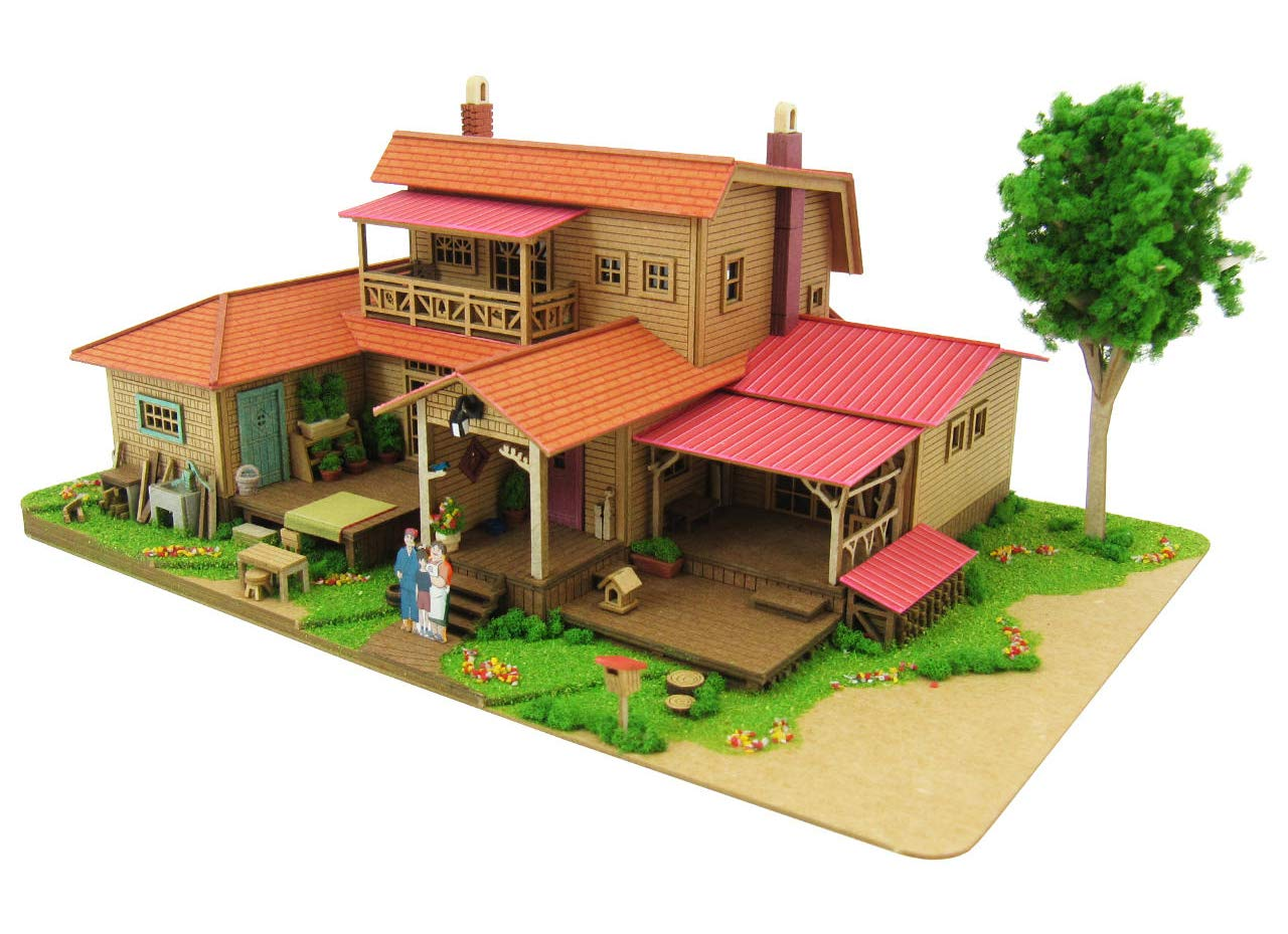 1 150 Studio Ghibli Series 8 Oiwa home (paper craft) MK07-1 Plastic