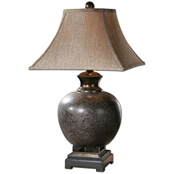 uttermost 26292 villaga distressed table lamp - Kitchen Table Lamp