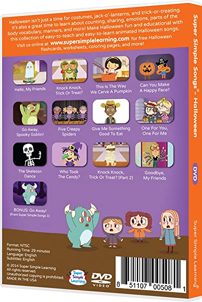 Counting Number worksheets halloween sequencing worksheets : Amazon.com: Super Simple Songs - Halloween DVD: Movies & TV