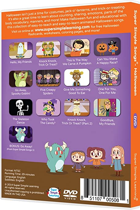 Amazon.com: Super Simple Songs - Halloween DVD: Movies & TV