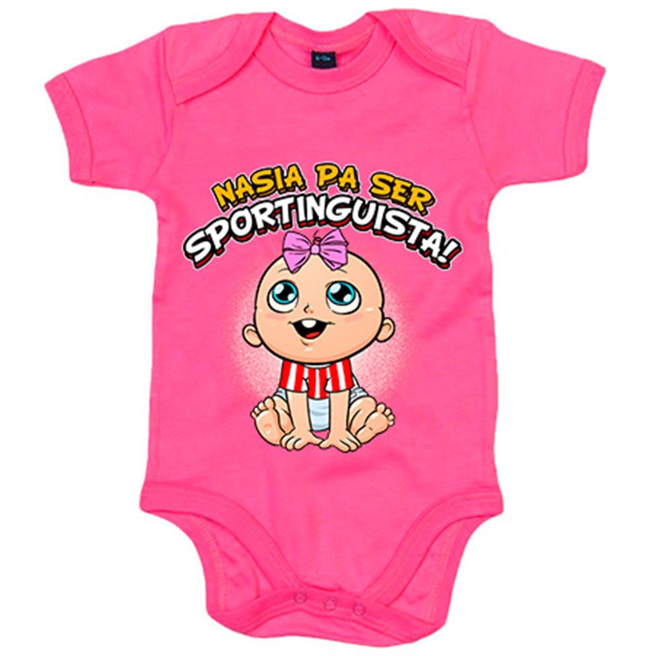 Body bebé nacida para ser Sportinguista Sporting Gijón fútbol - Amarillo, 6-12 meses: Amazon.es: Bebé