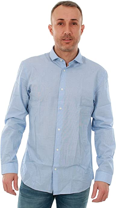 Camisa Jack&Jones Hombre XL Azul Claro 12151295 JPRBARCELONA Shirt LS EXP Cashmere Blue Slim FIT: Amazon.es: Ropa y accesorios