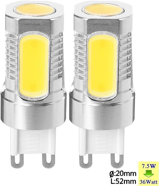 SUNIX Bombilla LED de Metal de Aluminio de Alta Potencia G9 7,5W ...