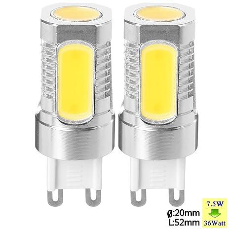 SUNIX Bombilla LED de Metal de Aluminio de Alta Potencia G9 7,5W LED COB