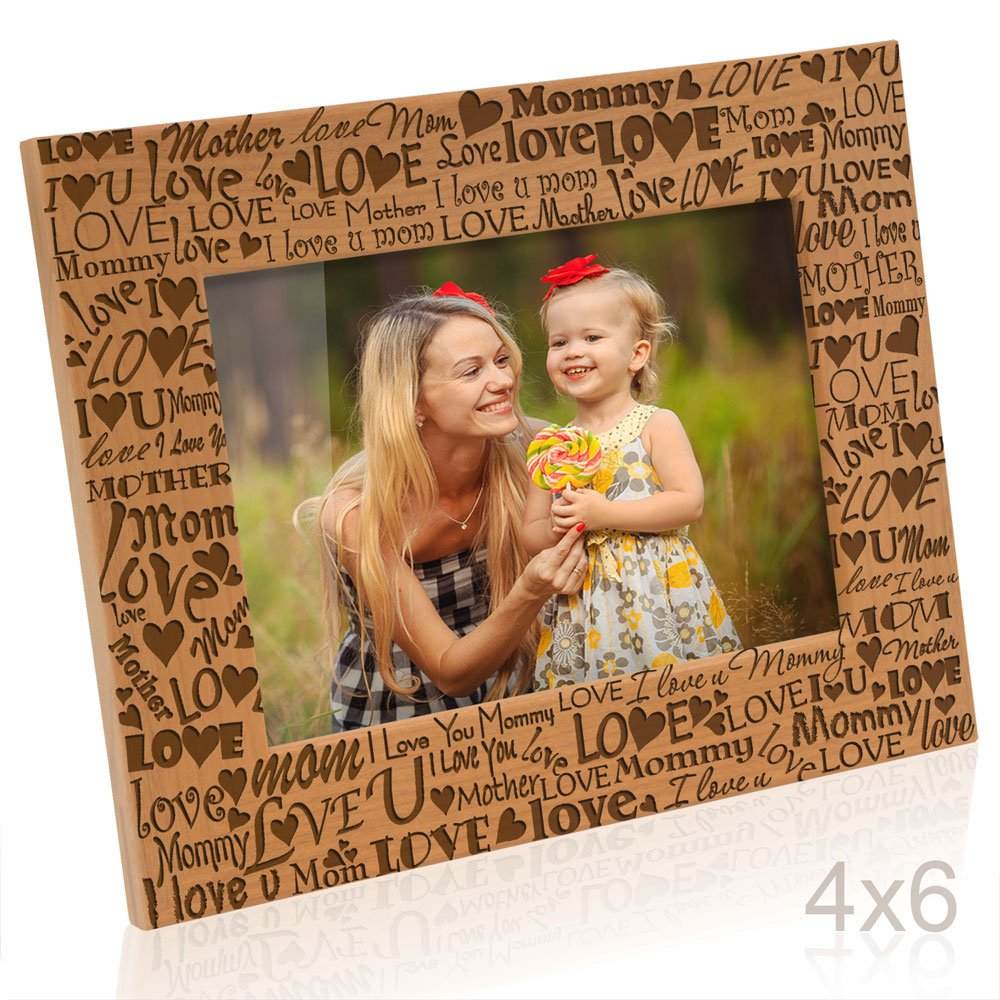 Kate Posh - I Love You Mom, Mother, Mommy Picture Frame (4x6 Horizontal) by Kate Posh (Image #1)